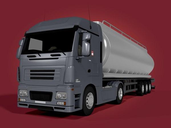 3d model fuel truck