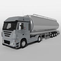 3D fuel truck model