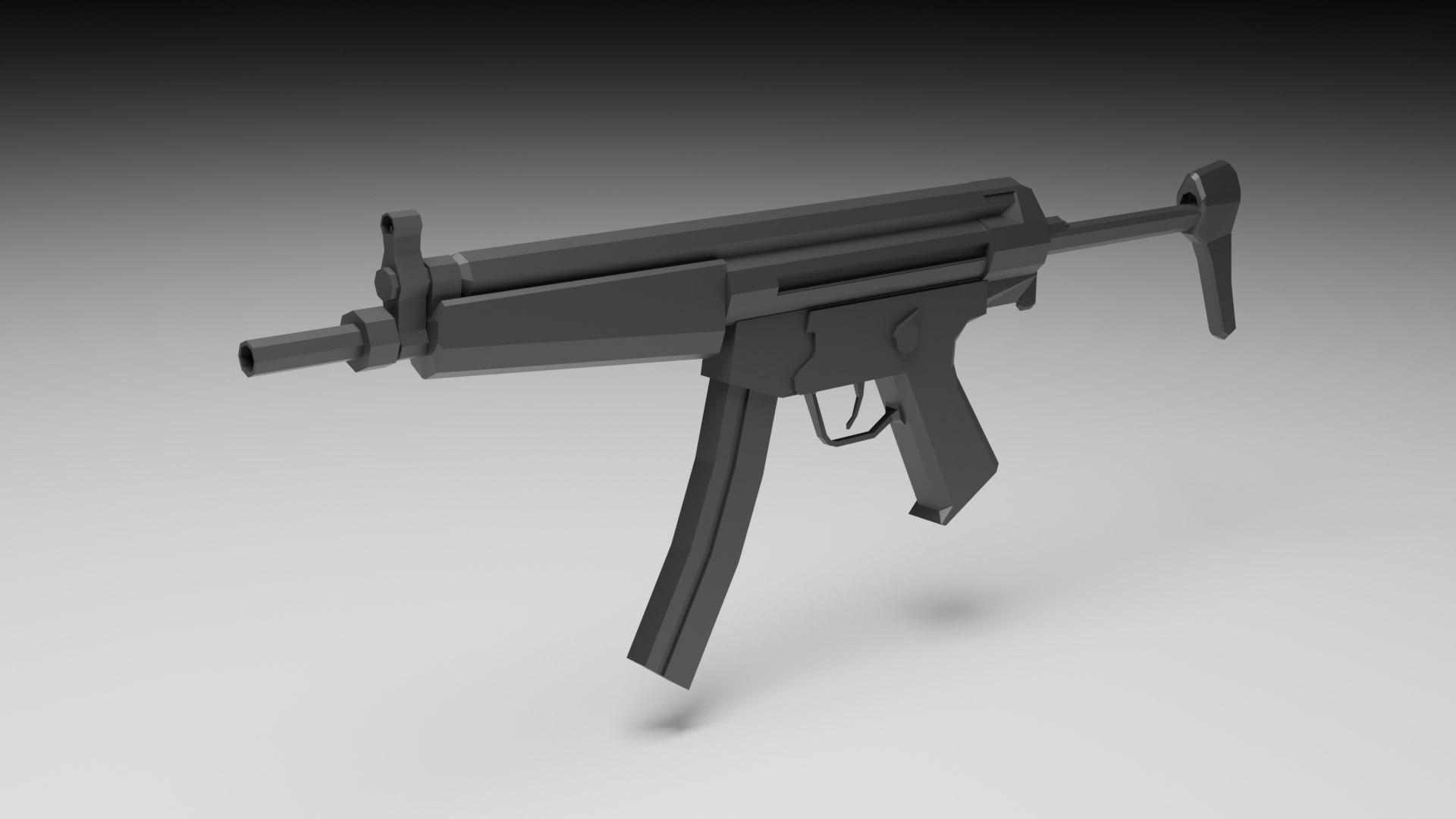3D gun blender - TurboSquid 1464356
