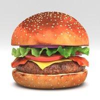 3D Burger 02