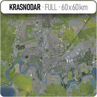 krasnodar surrounding - 3D model