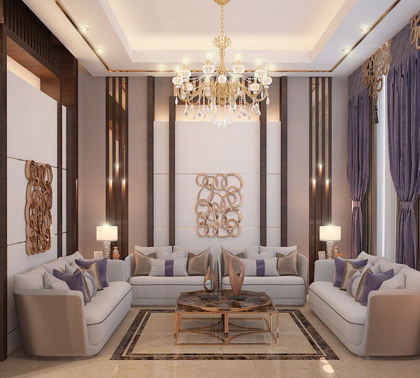 luxury salon 3D model