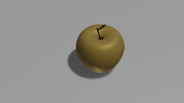 golden apple 3D model