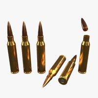 lapua magnum 338 bullet 3D model