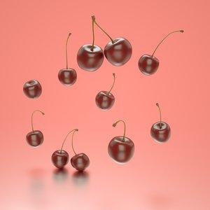 3D photorealistic cherries