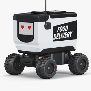 food delivery robot 3D