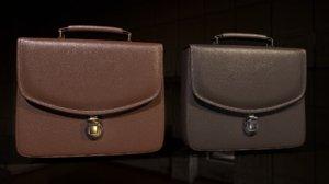 leather briefcase 2 color 3D