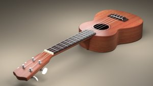 3D ukulele