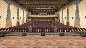 conference center details 3D model