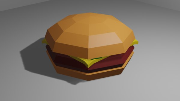 3D cheeseburger cheese burger model