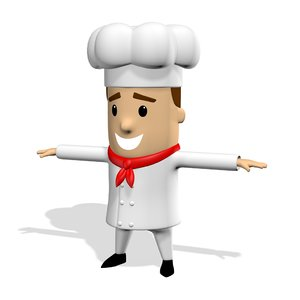 3D chef cook cute cartoon
