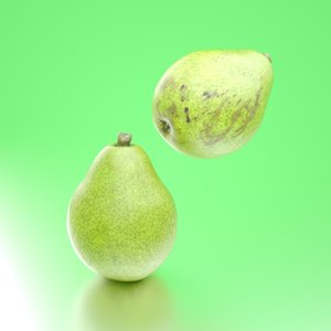 3D photorealistic pears