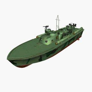 3D model patrol torpedo boat vessel