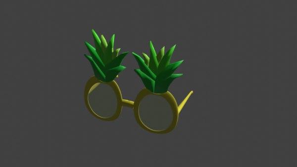 pineapple glasses 3D model