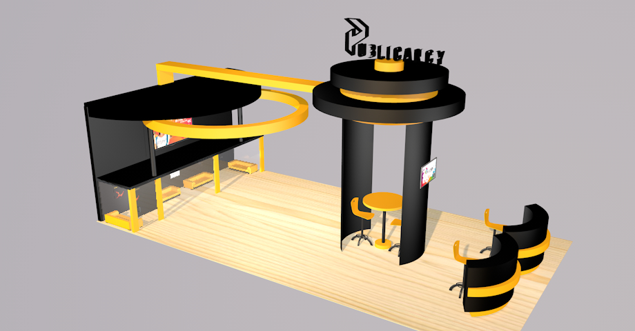 exhibition expo stand 3D