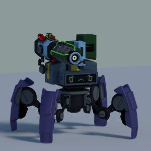 3D combat robot model