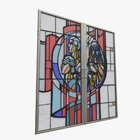 3D stained glass window ussr