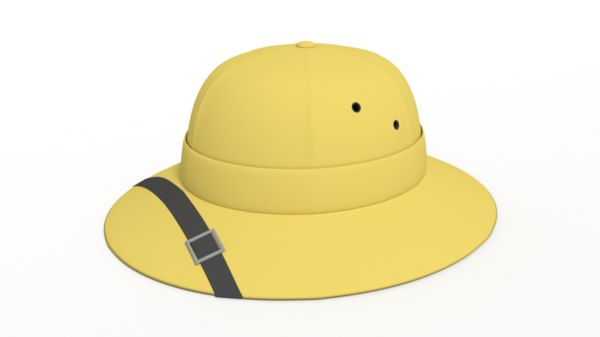 3D safari hat cartoon model