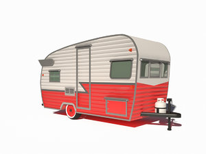 3D travel trailer