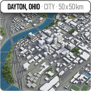 3D dayton surrounding area -