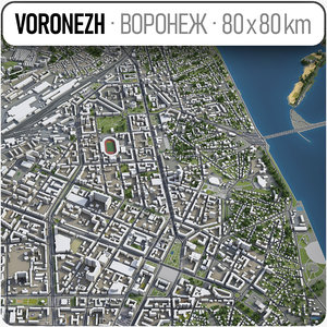 3D model voronezh surrounding area -