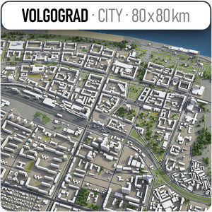 volgograd surrounding area - 3D model
