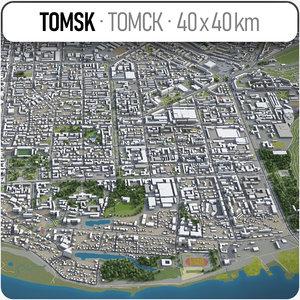 tomsk surrounding area - model