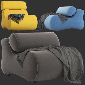 3D linea furniture romania chair model