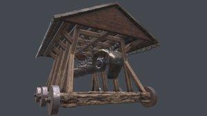 3D medieval ram model