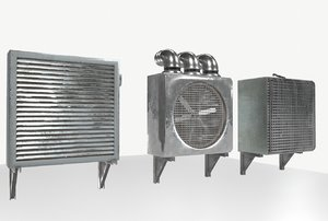 3D wall fans industrial