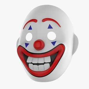 arthur fleck joker mask 3D model