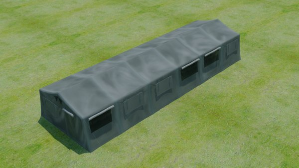 3D army tent