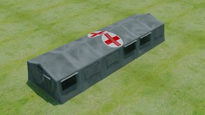 army tent 3D model