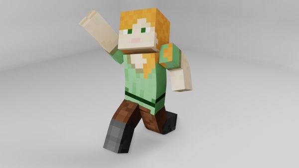 3D minecraft alex
