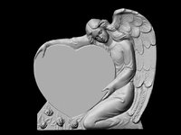 angel with heart angelo con cuore grande per cimitero