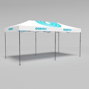 tent pavilion marquee 3D model