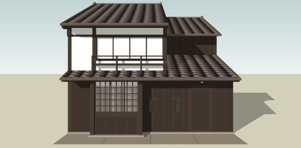 3D small japanese townhouse