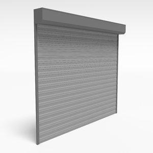3D garage door shutters model