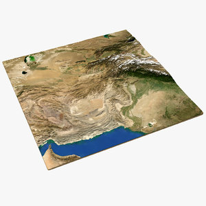3D model afganistan color borders