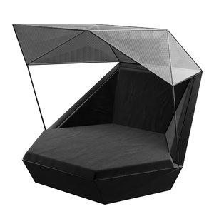 vondom faz daybed parasol 3D