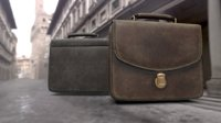 Old used Leather briefcase 2 colors