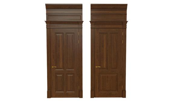 classic wooden door 04 3D