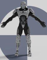 3D futuristic male suit model
