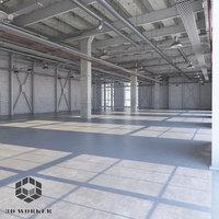 3D loft interior