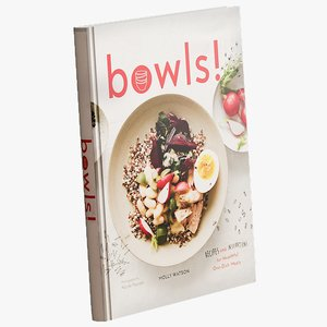 realistic bowls cookbook 3D model