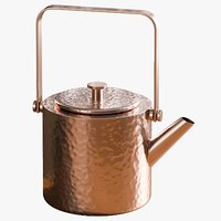3D realistic copper teapot model