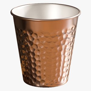 3D model realistic copper tumbler