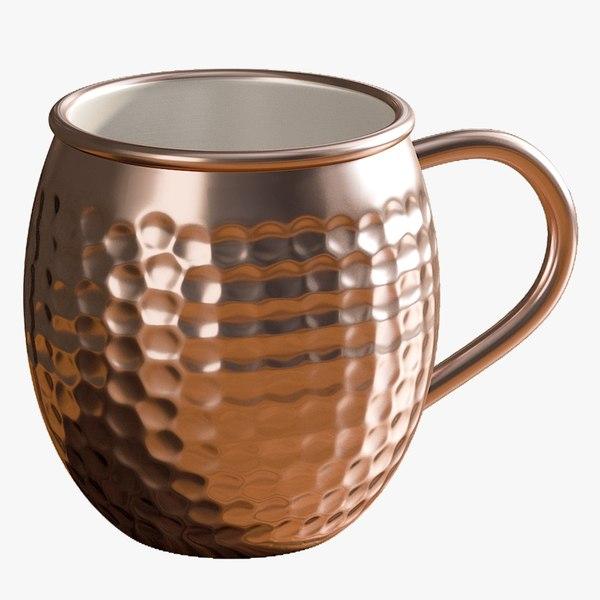 realistic copper mule mug 3D model