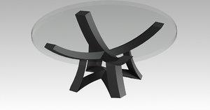 3D underframe table model
