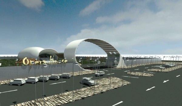 opera house 3D model